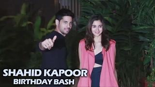 Sidharth Malhotra And Alia Bhatt Together At Shahid Kapoor's Birthday Bash 2017