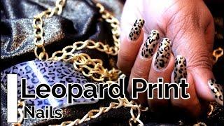 EASY LEOPARD PRINT NAIL ART (SRI LANKAN)