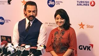 Aamir Khan With Zaira Wasim At Jio MAMI 19th Mumbai Film Festival