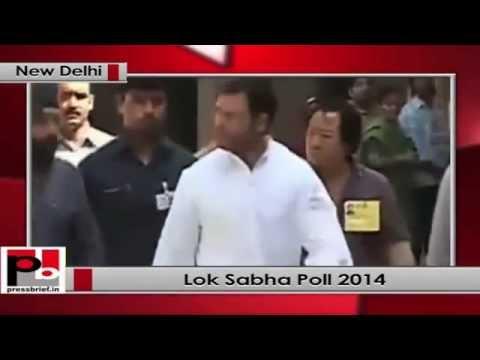 Lok Sabha polls- Rahul Gandhi votes in New Delhi
