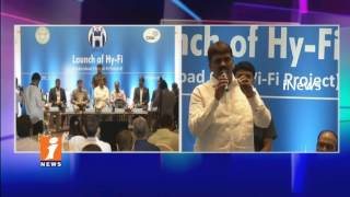 GHMC Mayor Bonthu Ram Mohan Launches Hyderabad Wi-Fi Project | Hy-Fi Launch | iNews