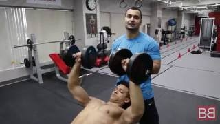 How to- Make your CHEST look wider by doing INCLINE DUMBBELL PRESS! (Hindi / Punjabi)