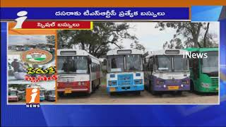 Passengers Upset On TSRTC Special Service Bus For Dussehra Festival | iNews