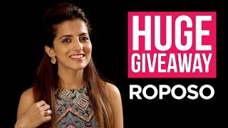 HUGE GIVEAWAY : Roposo | The Perfect Ponytail!