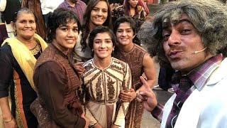 Dangal Girls Geeta & Babita With Mahavir Phogat On The Kapil Sharma Show Live