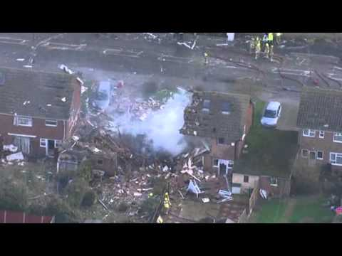 Raw- Gas Explosion Levels UK Home News Video