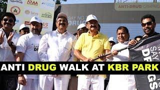 Anti Drug Walk At KBR Park || Venkaiah Naidu, Akun Sabharwal, Naresh