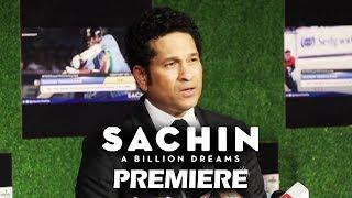 Sachin Tendulkar GETS EMOTIONAL At Sachin A Billion Dreams Premiere
