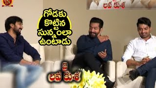 NTR Making Fun On Bobby    Jai Lava Kusa Team Interview    Nivetha Thomas, Raashi Khanna