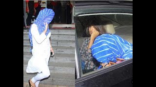 Why Sara Ali Khan hides her face?