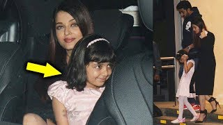 Aishwarya Rai On A Dinner Date With Abhishek Bachchan & CUTE Aaradhya Bachchan