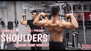BBRT #19- Complete SHOULDER WORKOUT ROUTINE for EXTREME PUMP! (Hindi / Punjabi)