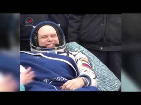 Raw- Space Station Crew Back on Earth News Video