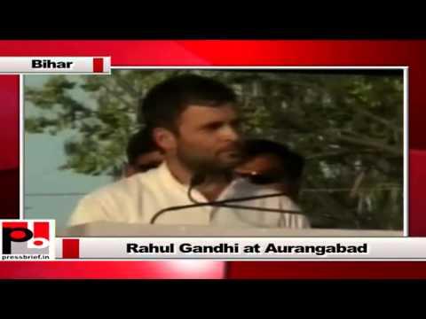 Rahul Gandhi takes on BJP while addressing Congress rally at Aurangabad in Bihar