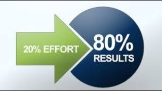 Work less and achive more  Pareto Principle 80-20