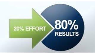 Work less and achive more  Pareto Principle 80-20