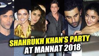Deepika, Alia, Ranveer, Hrithik, Kareena, Ranbir Attends Shahrukh Khan's Party 2018 At Mannat