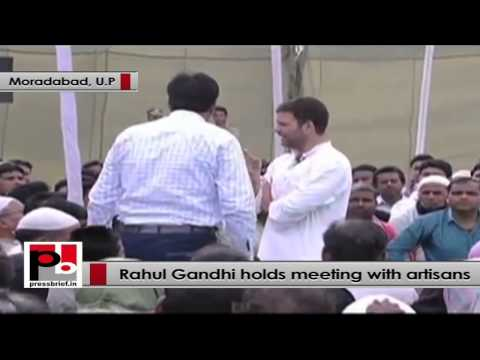 Rahul Gandhi to artisans - It's a unique form of art, we should uplift this business