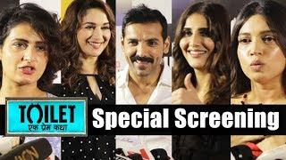 Toilet Ek Prem Katha Special Screening | John Abraham, Madhuri Dixit, Bhumi Pednekar, Vaani Kapoor