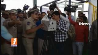 DGP Anurag Sharma Launches Speed  Laser Guns On ORR   Telangana   iNews