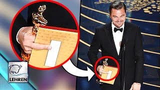 Leonardo DiCaprio Shows MIDDLE Finger To Oscars 2016?