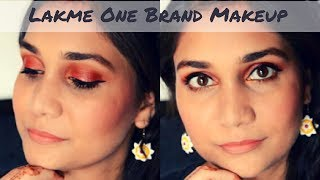 Wedding Guest Makeup Using Just Lakme Products | Lakme One Brand Makeup Tutorial | Nidhi Katiyar