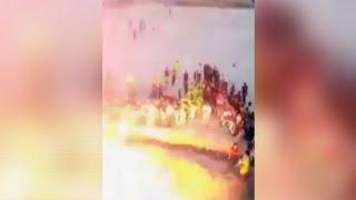 Raw- Video Captures Iraq Soccer Stadium Blast News Video