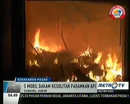 kebakaran pasar inpres pegaden terbakar subang