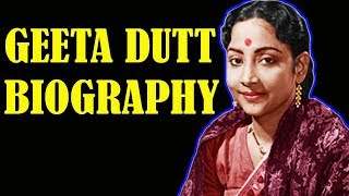 Geeta Dutt Biography in Hindi | Singer Geeta Dutt & Husband Guru Dutt  | HD Video