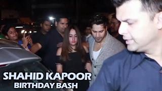 Varun Dhawan With Girlfriend Natasha At Shahid Kapoor's Birthday Bash 2017