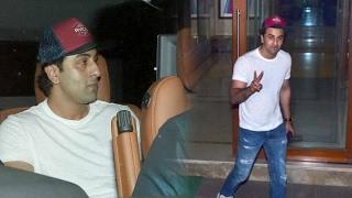 Ranbir Kapoor SPOTTED At Sanjay Dutt's House - Dutt Biopic