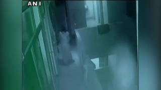 CCTV footage- Aunt throws 18 day old infant from 3rd floor of hospital building in Kanpur