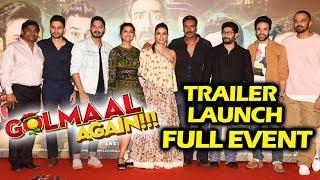 Golmaal Again Trailer Launch | FULL HD VIDEO | Ajay Devgn, Parineeti, Arshad Warsi, Tabu