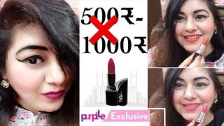 Lipsticks under ₹100 | Affordable Lipstick for Indian Skin | NY Bae lipstick - Swatches + Review