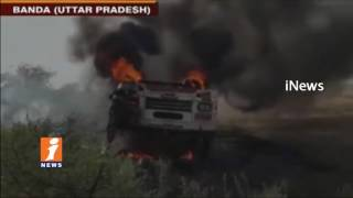 Bus Catches Fire Accident In Banda | 4 Dead & 15 Injured | Uttar Pradesh | iNews