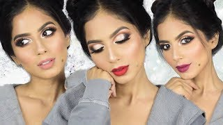 SUPERGLAM CHRISTMAS MAKEUP TUTORIAL + 3 Lip Options