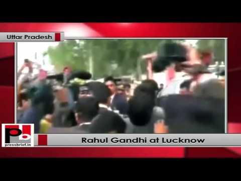 Rahul Gandhi reaches Uttar Pradesh; receives warm welcome at Lucknow