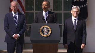 Obama Introduces Garland as High Court Nominee News Video