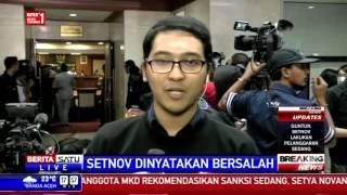 9 Anggota MKD Nyatakan Novanto Lakukan Pelanggaran Sedang