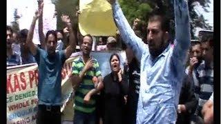 जेकेपीएससी के खिलाफ छात्रों का पुतला फूंक प्रदर्शन, जानिए वजह