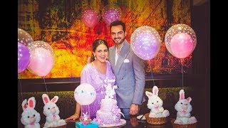 You cannot miss Esha Deol's Lavender theme baby shower party