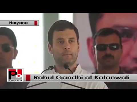 Rahul Gandhi addresses Congress poll campaign rally at Kalanwali, Haryana