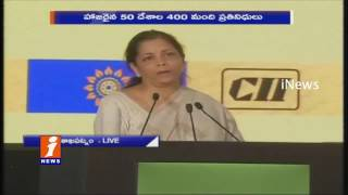 Nirmala sitharaman Prices Andhra Pradesh Over GDP Growth At CII Summit | Vishaka | iNews