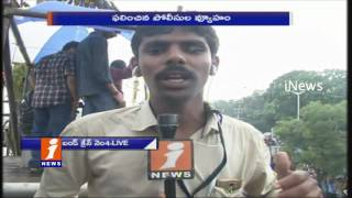 Hyderabad Ganesh Shobha Yatra | Ganesh Idols Moving Towards Tank Bund From MJ Market | Inews