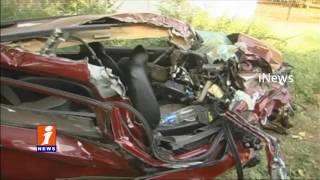 Lorry Hits Car | 2 Died,2 Injured | Kadapa | iNews
