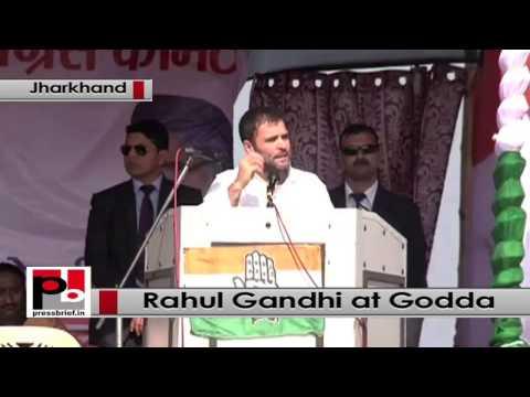 Jharkhand- At Godda rally, Rahul Gandhi mocks Modi's 'achhe din' promise
