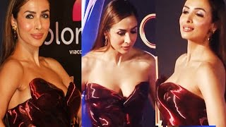 Malaika Arora Khan Huge Assets Show in Open Neck Gown