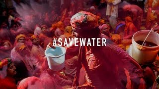 #SaveWater - This Holi, use water sensibly. We have very little left