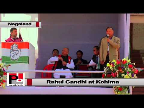 Rahul Gandhi at Kohima - It's a great honour to be here
