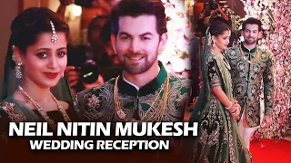 Newly Wed Neil Nitin Mukesh & Wife Rukmini POSES For Media At Wedding Reception